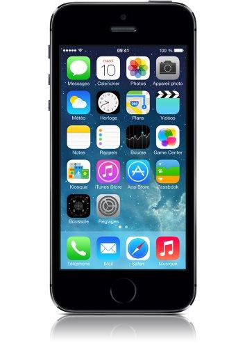 apple iphone 5s smartphone d bloqu 4g ecran 4 pouces 16 go ios 7 gris sid ral clicelectro. Black Bedroom Furniture Sets. Home Design Ideas
